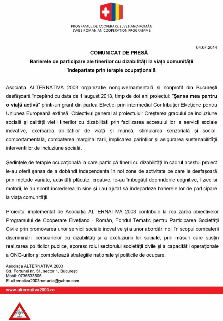 Asociatia ALTERNATIVA 2003_ comunicat de presa_Terapia ocu…-