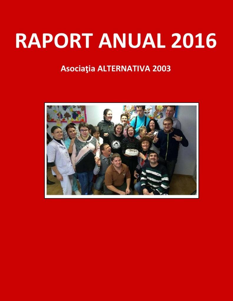 RAPORT ANUAL 2016 coperta