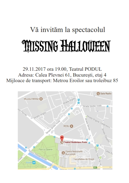 invitatie halloween